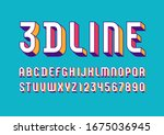 3d font from geometric module ... | Shutterstock .eps vector #1675036945