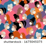many different ages and... | Shutterstock .eps vector #1675045375