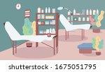 waxing salon flat color vector...   Shutterstock .eps vector #1675051795