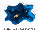 paper art style of rocket... | Shutterstock .eps vector #1675060225
