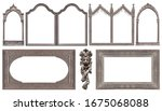 Set of silver gothic frames for ...