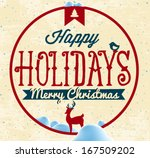 happy holidays greeting card in ... | Shutterstock .eps vector #167509202