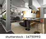 view on the modern apartment 3d | Shutterstock . vector #16750993