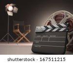 clapboard concept of cinema.  | Shutterstock . vector #167511215
