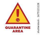 vector quarantine area... | Shutterstock .eps vector #1675121128