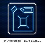glowing neon line canister for... | Shutterstock .eps vector #1675122622