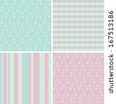 4 pastel seamless patterns | Shutterstock . vector #167513186