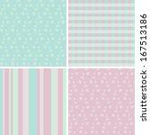 4 pastel seamless patterns | Shutterstock . vector #167513186