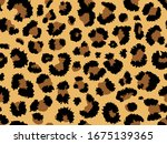 seamless leopard fur pattern.... | Shutterstock .eps vector #1675139365