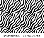 zebra stripes seamless pattern. ... | Shutterstock .eps vector #1675139755