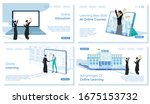online education and learning ... | Shutterstock .eps vector #1675153732