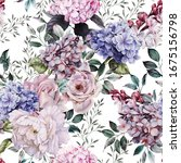 seamless floral pattern with... | Shutterstock . vector #1675156798
