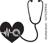 medical icon stethoscope with... | Shutterstock .eps vector #1675159942