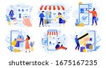 online shopping. internet... | Shutterstock . vector #1675167235