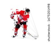 ice hockey player  isolated... | Shutterstock .eps vector #1675201498