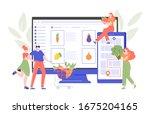 order fresh fruits and...   Shutterstock .eps vector #1675204165