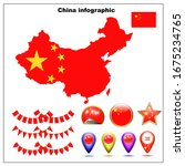 Bright Map Of China. Map Of...