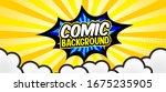 pop art comic background... | Shutterstock .eps vector #1675235905