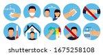 hand sanitizers. coronavirus... | Shutterstock .eps vector #1675258108