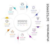 vector infographic label design ... | Shutterstock .eps vector #1675259905