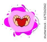 hands in heart  love  valentine ...