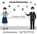 social distancing.businessman... | Shutterstock .eps vector #1675275742