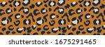 leopard skin. animal print.... | Shutterstock .eps vector #1675291465