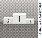 white winners pedestal. 3d...   Shutterstock .eps vector #1675298878