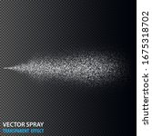 transparent water spray...   Shutterstock .eps vector #1675318702