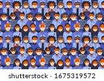epidemic seamless pattern....   Shutterstock .eps vector #1675319572