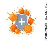 immune system icon.... | Shutterstock .eps vector #1675323412