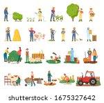 man spraying bushes raster ... | Shutterstock . vector #1675327642