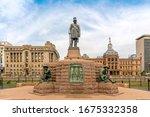 Statue On Church Square In...