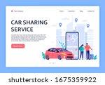 car rent. cars rent phone... | Shutterstock . vector #1675359922
