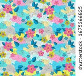 floral pattern seamless... | Shutterstock .eps vector #1675366825