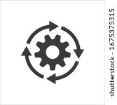 gear workflow progress vector... | Shutterstock .eps vector #1675375315