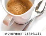 close up of a cup of coffee | Shutterstock . vector #167541158