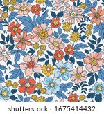 elegant floral pattern in small ... | Shutterstock .eps vector #1675414432
