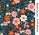 Trendy Seamless Vector Floral...