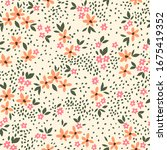 elegant floral pattern in small ... | Shutterstock .eps vector #1675419352