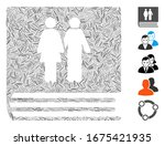 hatch mosaic based on family... | Shutterstock .eps vector #1675421935