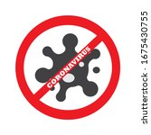 no corona virus sign isolated... | Shutterstock .eps vector #1675430755