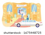 just married couple. happy... | Shutterstock .eps vector #1675448725
