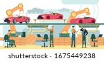 operator at working station ... | Shutterstock .eps vector #1675449238
