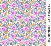 elegant floral pattern in small ... | Shutterstock .eps vector #1675462852