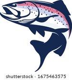 rainbow trout logo. great... | Shutterstock .eps vector #1675463575
