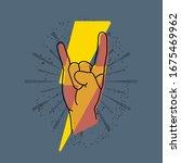 rock hand  gesture symbol....   Shutterstock .eps vector #1675469962
