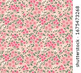 cute floral pattern in the...   Shutterstock .eps vector #1675473268