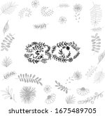number 30 consisting of flowers ...   Shutterstock .eps vector #1675489705
