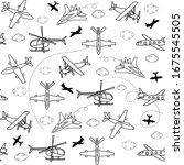 seamless vector pattern... | Shutterstock .eps vector #1675545505